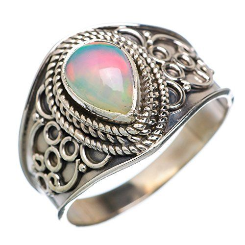 Ana Silver Co Natural Ethiopian Opal 925 Sterling Silver Ring Size 9 (Unique Handcrafted Artisan Jewelry) RING658353 Ana Silver Co. http://www.amazon.com/dp/B0168KFAE6/ref=cm_sw_r_pi_dp_8c7ywb16XG2NH