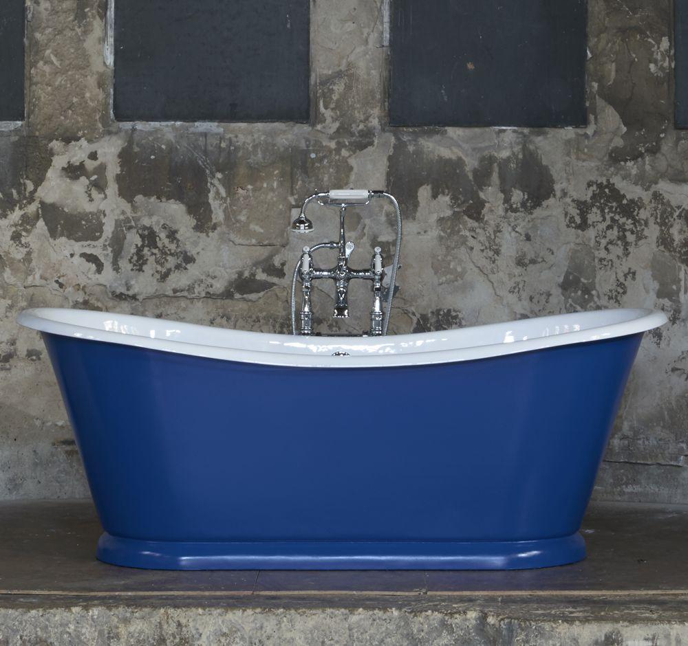 The Wye #Freestanding #Cast #Iron #Bath #Drummonds #Batteau #Blue ...