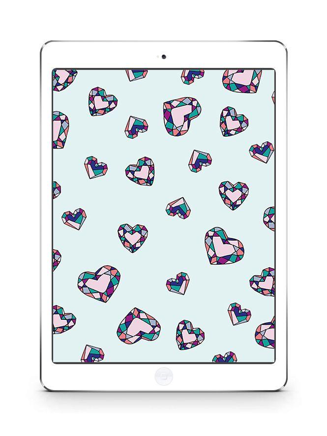 Jewel Heart Desktop And Ipad Wallpaper Ipad Wallpaper Wallpaper Free Wallpaper