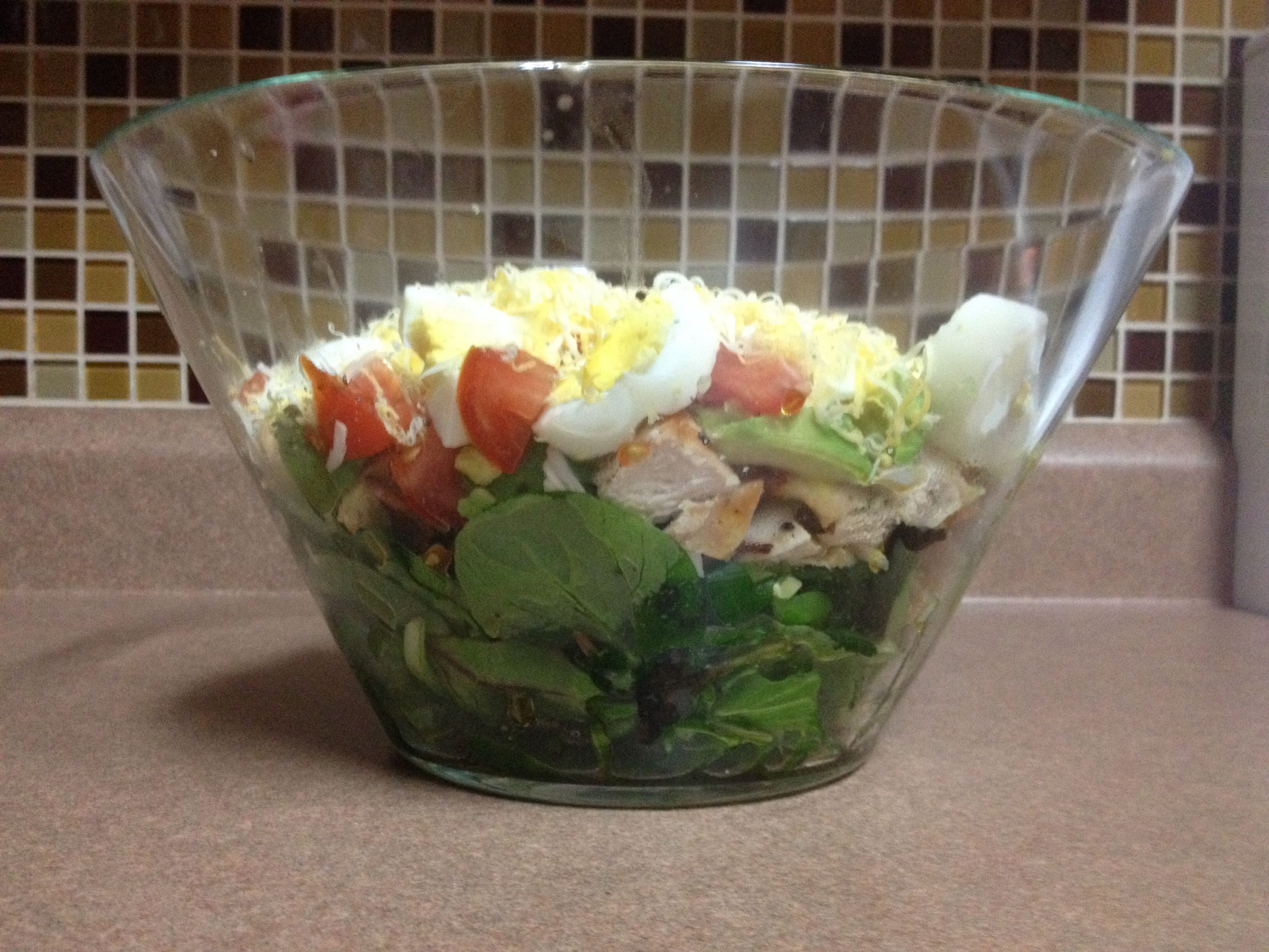 Layered Cobb Salad my version:) No carbs.