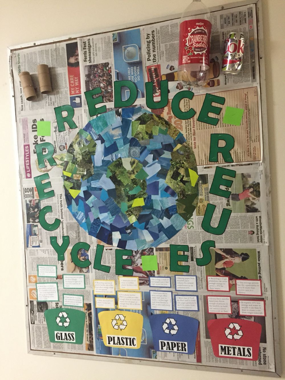 Reduce Reuse Recycle Recycling Ideas For School Recycle