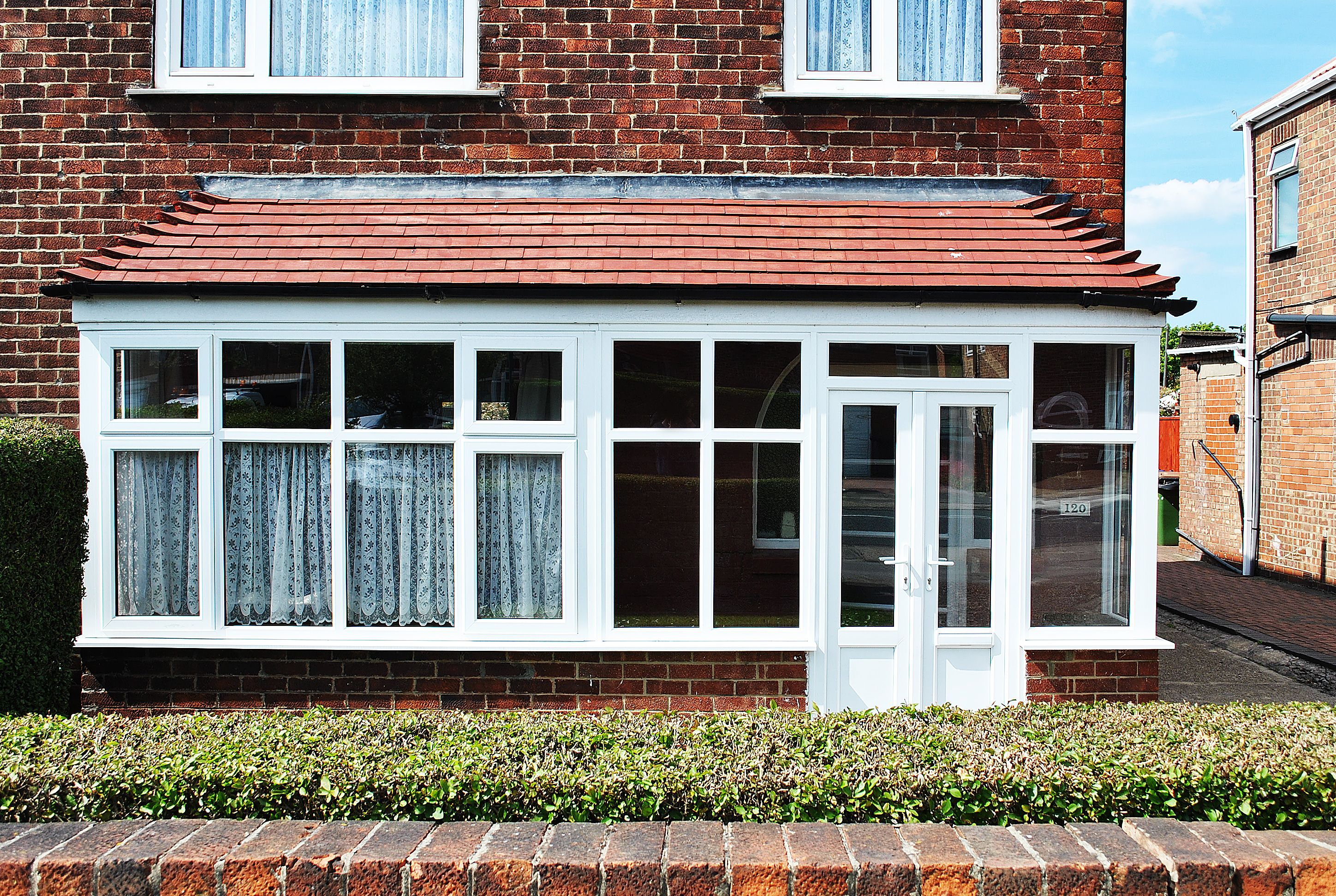 Upvc Porch And Bay Combination With Rehau Frame Work And French