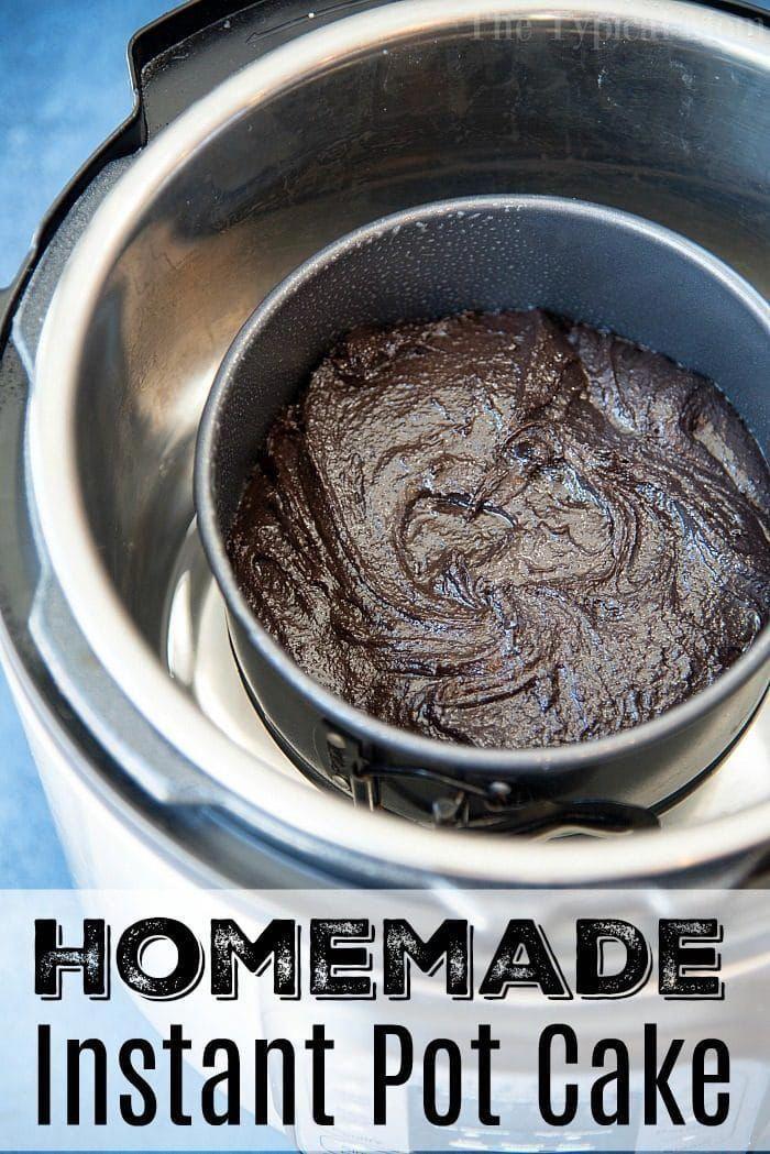 Instant Pot Chocolate Cake! #flowerlesschocolatecake