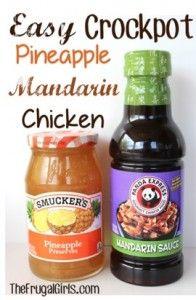 Crockpot Pineapple Mandarin Chicken