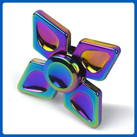 Fidget Spinner Rainbow Hand Reduce Stress High Speed Focus Toy For Killing Time Alloy Kinwilliam B