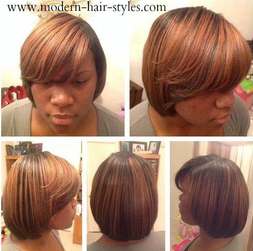 Natural Hair that has been Relaxed cut and styled. | Natural ...