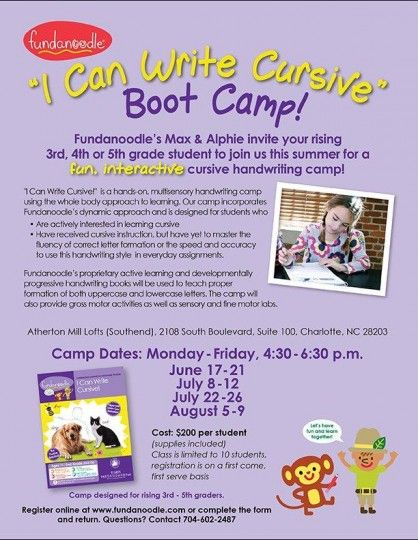I Can Write Cursive Boot Camp Cursive Kids Events