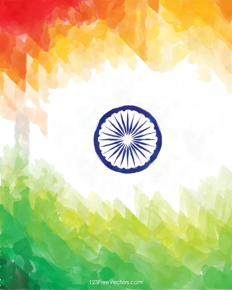 Creative Watercolor Indian Flag Background For Indian