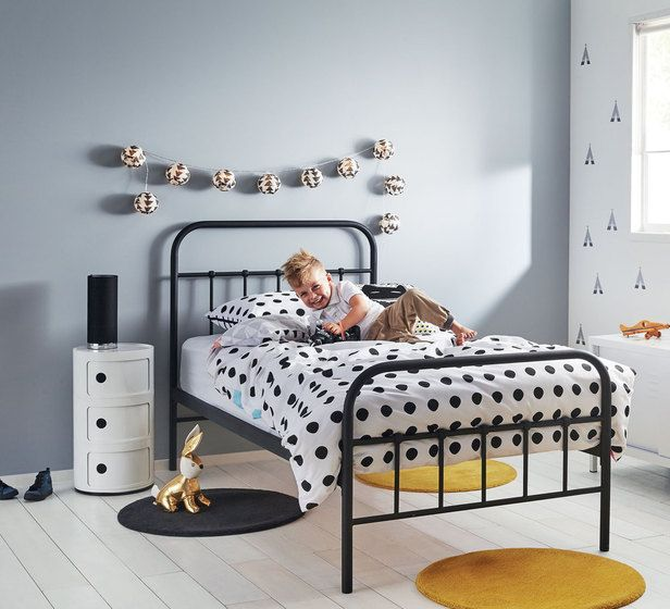 Black Metal Frame Bed Boys Will Be Boys Fantastic Furniture