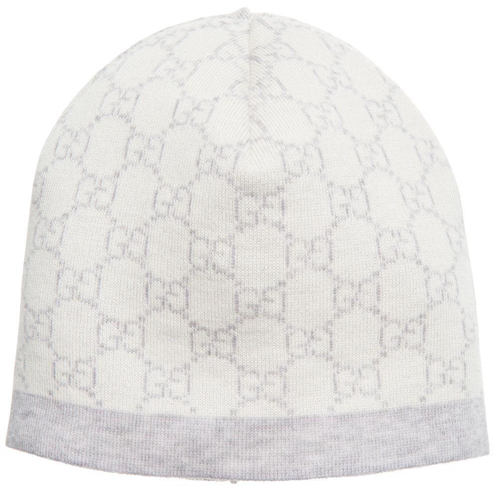180f81a6ffb Baby girls and boys grey Gucci hat