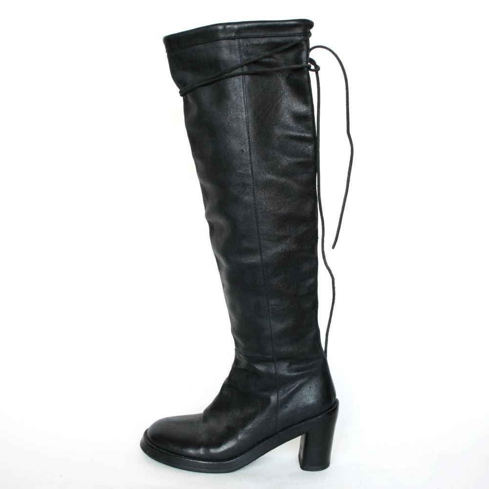 Ann Demeulemeester Metallic Knee-High Boots outlet locations for sale discount sale cheap for cheap find great for sale cheap sale amazon Vglh5