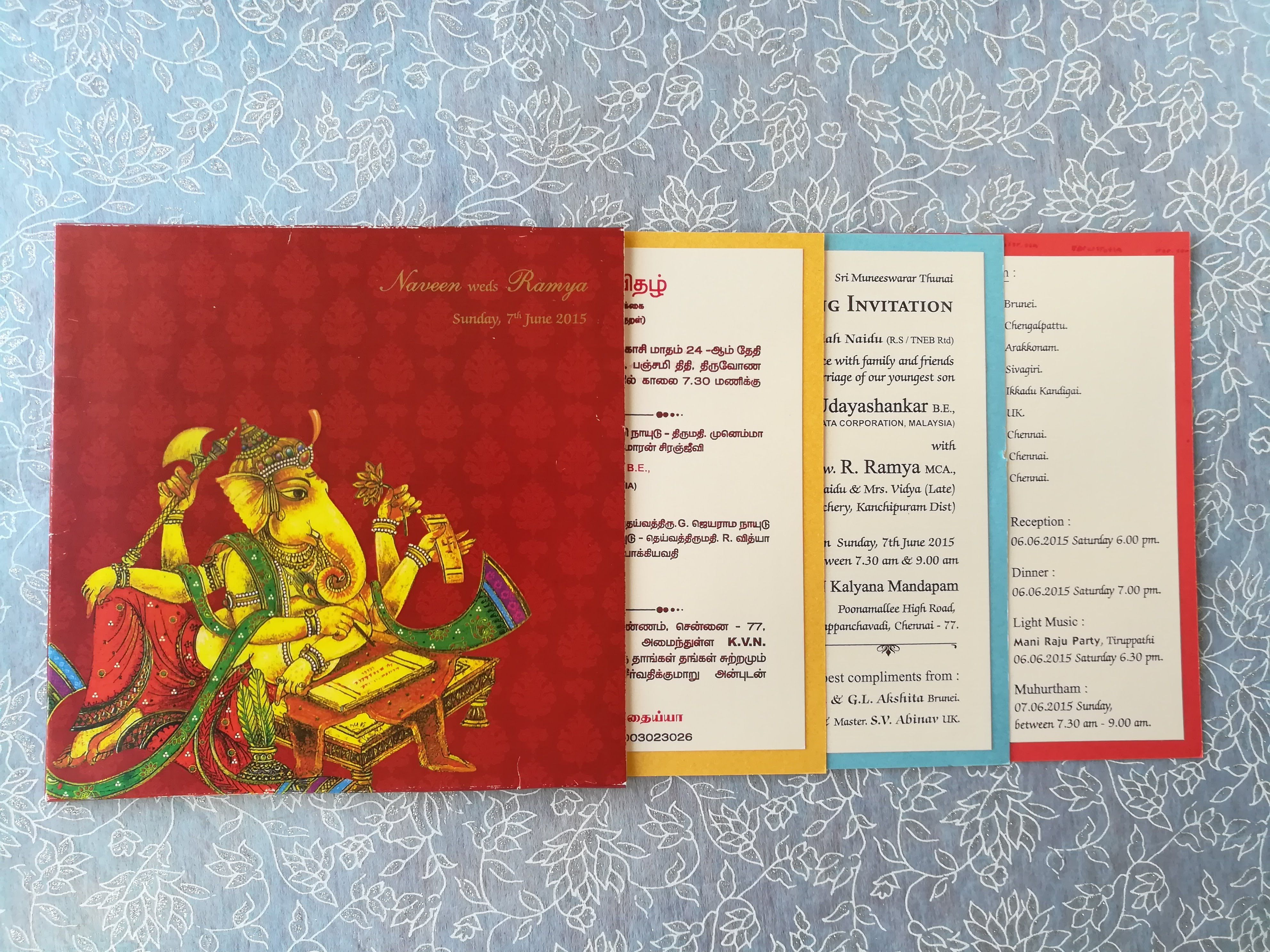 South Indian Traditional wedding card Which conveys modern and ...