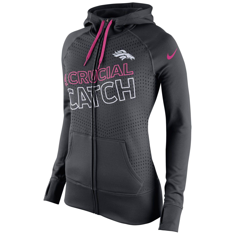 Hot Nike Denver Broncos Women's Charcoal Breast Cancer Awareness KO Full  hot sale