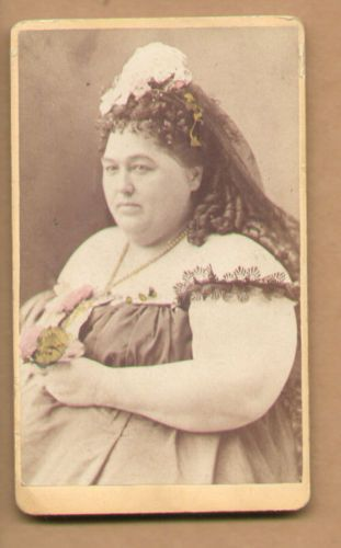 CDV-Photo-1870-Fat-Lady-Circus-Performer-By-J-P-Silvers-Phila-PA