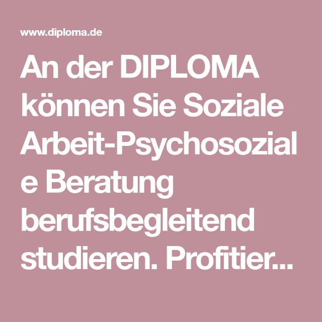 An der DIPLOMA können Sie Soziale ArbeitPsychosoziale