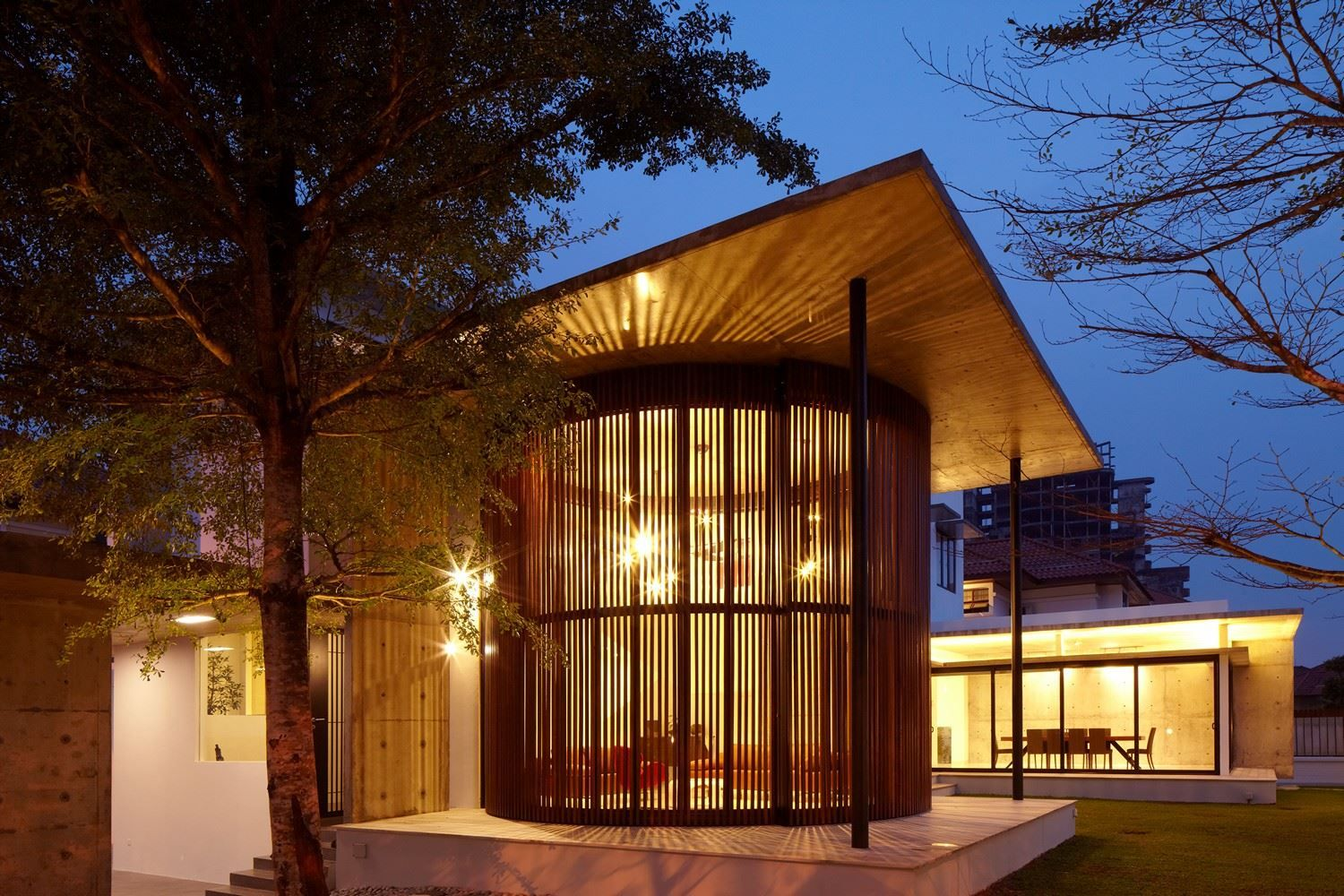 Evening View As Interior Design Patio Modern Style Covered