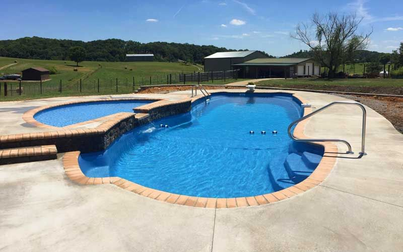 Johnson City Tn Swimming Pool Two Level With Tanning Ledge