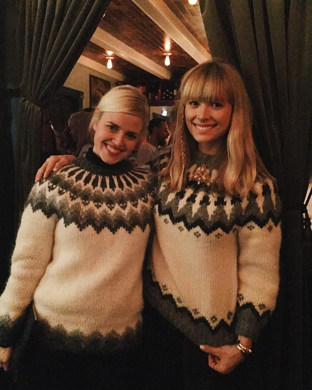 Serious jumper situation. Icelandic sweater pizza party - with fellow Vestur Íslendingar @brittbarkwell