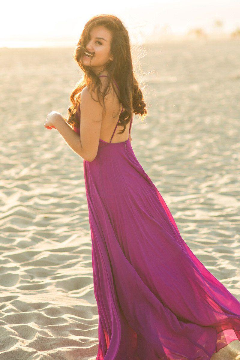 5be0d809176 Emma Purple Flowy Maxi Dress