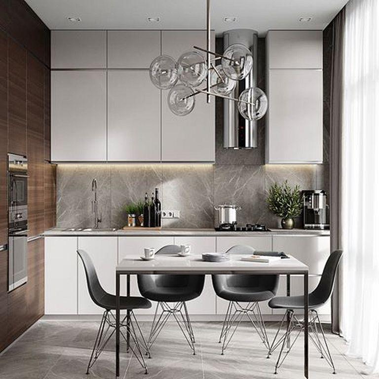 28 Fabulous Modern Kitchen Design Ideas For Small Apartment