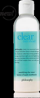 Philosophy Clear Days Ahead Mattifying Clay Toner Toner Day Beauty