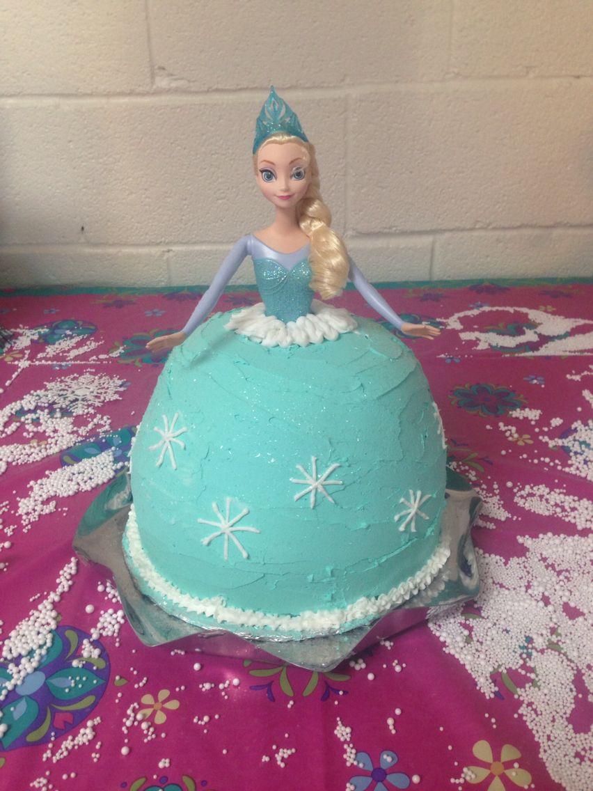 My attempt at an Elsa cake Elsa cakes, Cake, Birthday