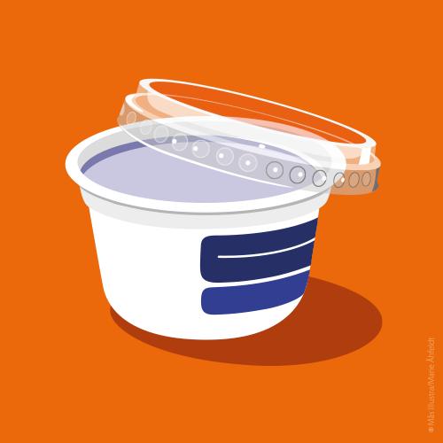 Återvinning av plast/ Recycling plastic packaging SSSB – illustration by Marie Åhfeldt/Mås Illustra
