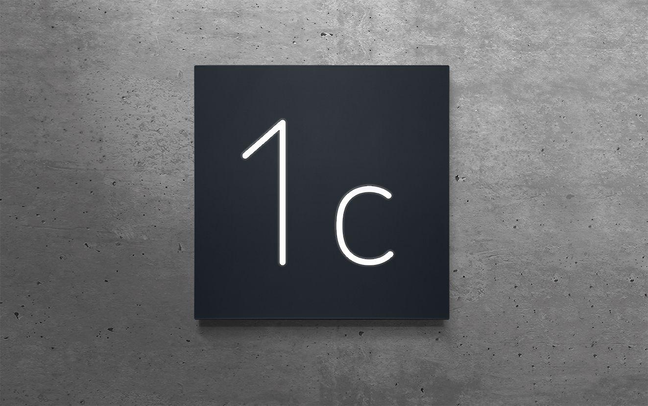 Hausnummern 10 Bis 19 Aluminium Beleuchtet Beleuchten 12v Led Hausnummern