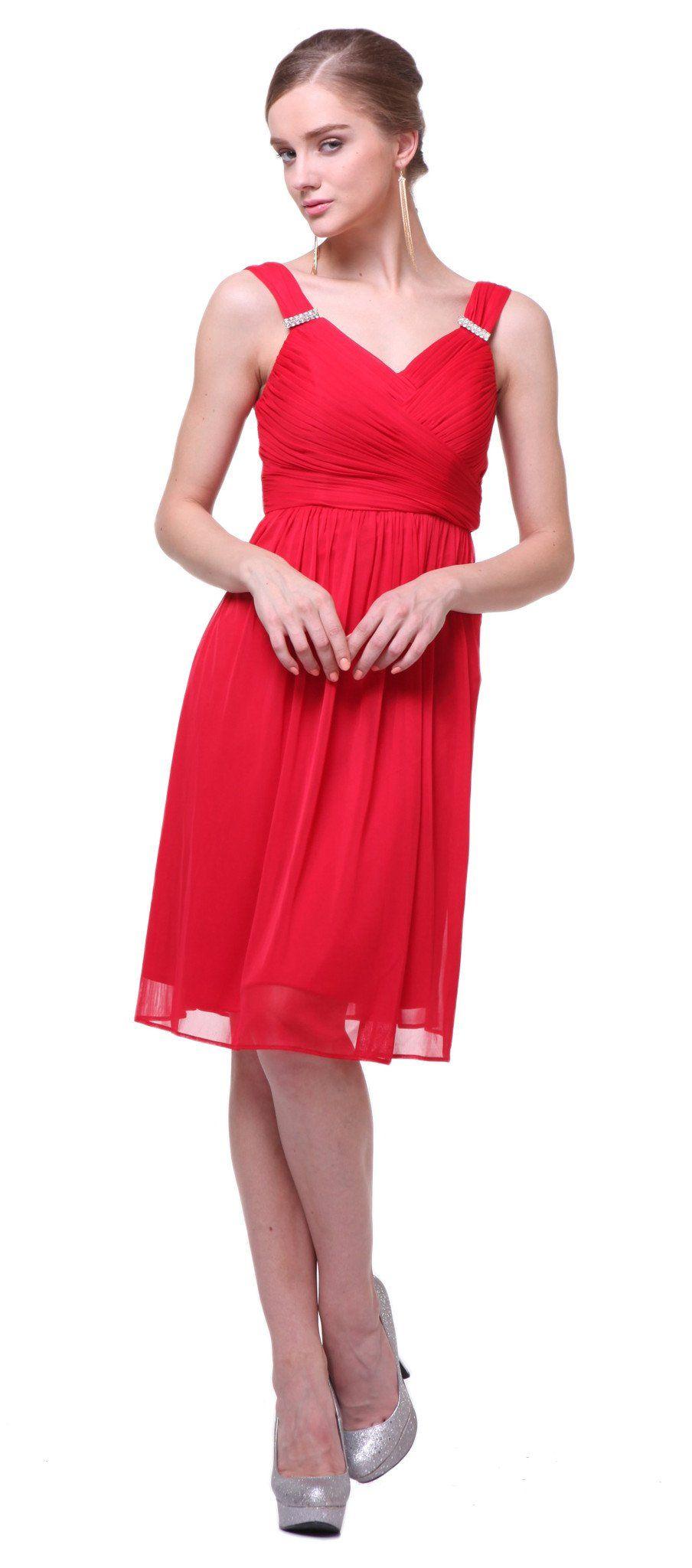 Cd short aline cocktail dress has v neckline products