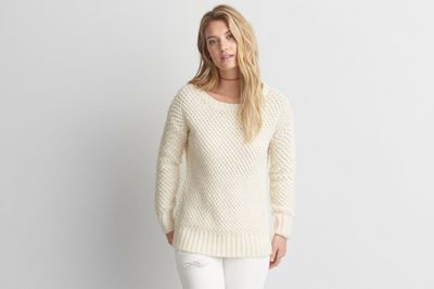aeo textured boucle sweateramerican eagle outfitters