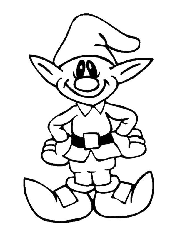 Printable Cute Elves Christmas Coloring Pages With Images