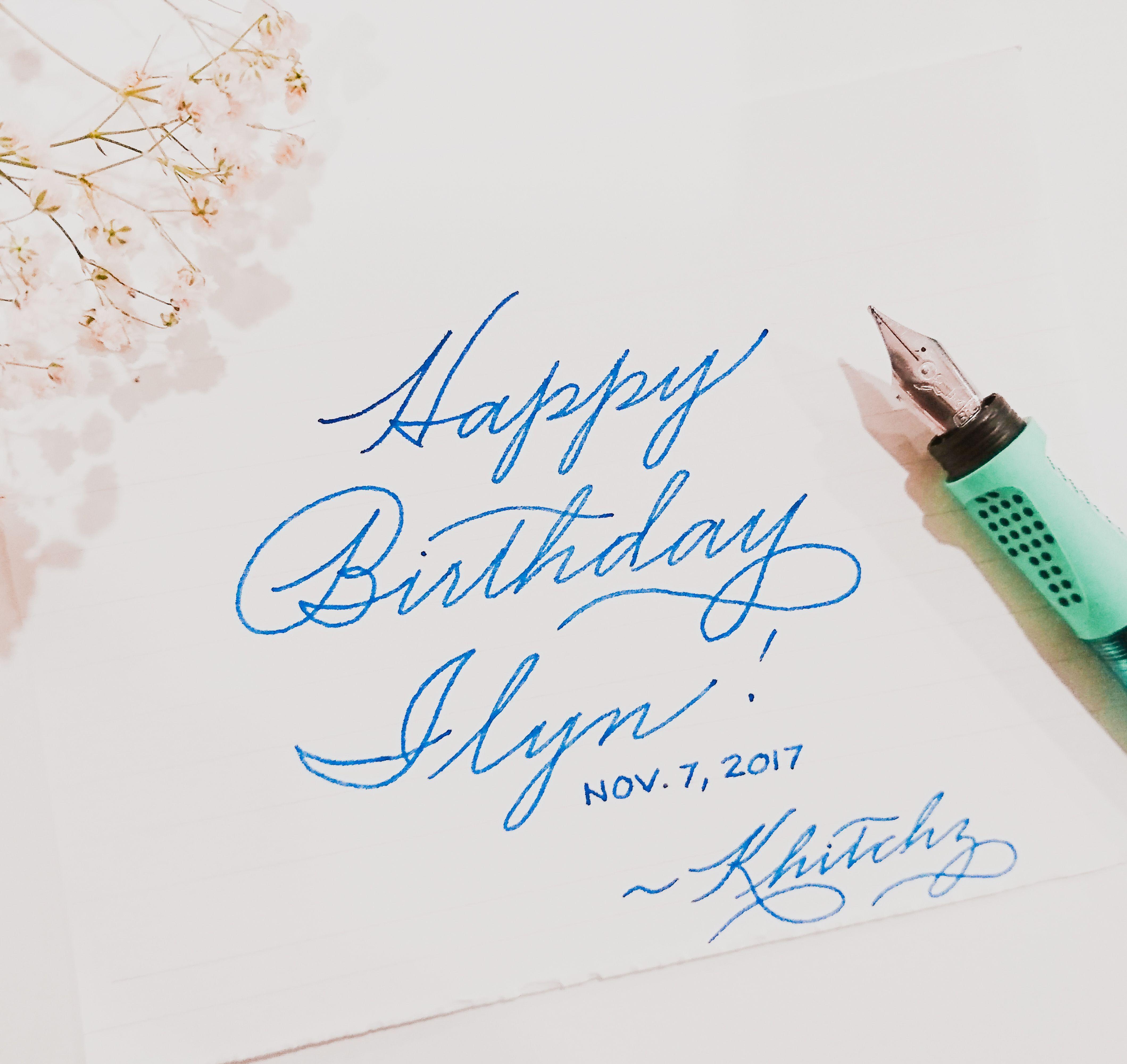 Happy Birthday Dad Cursive Cursive Design Ideas