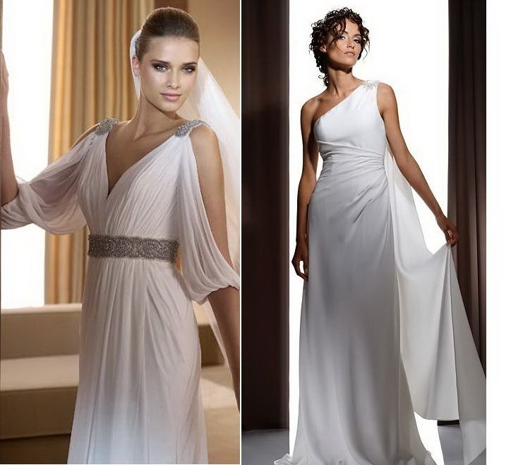 Greek Dress=like The Sleeves On Left