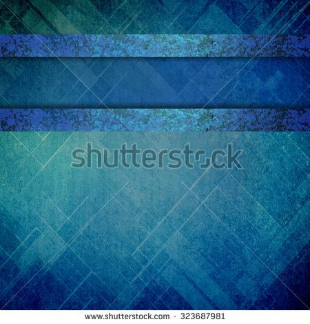 Abstract Techno Background In Blue With Shiny Metal Paint Stripes