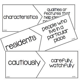 Wonders 4th Grade Vocabulary Puzzles Units 3- Units 4