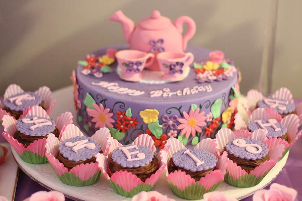 Baby Shower Tea Party Cake