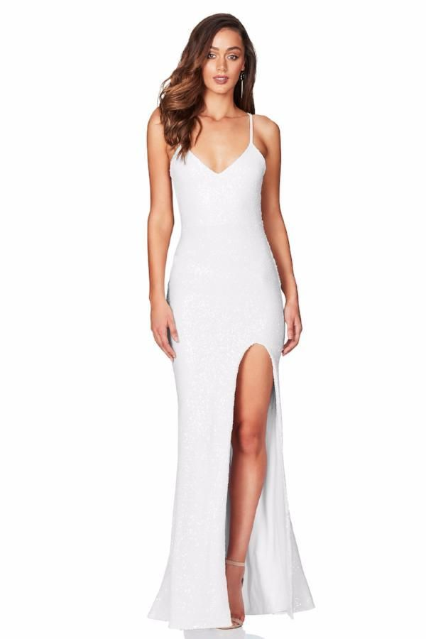 NOOKIE Belleza Gown (White)- RRP $359 - Dress for a Night Designer ...