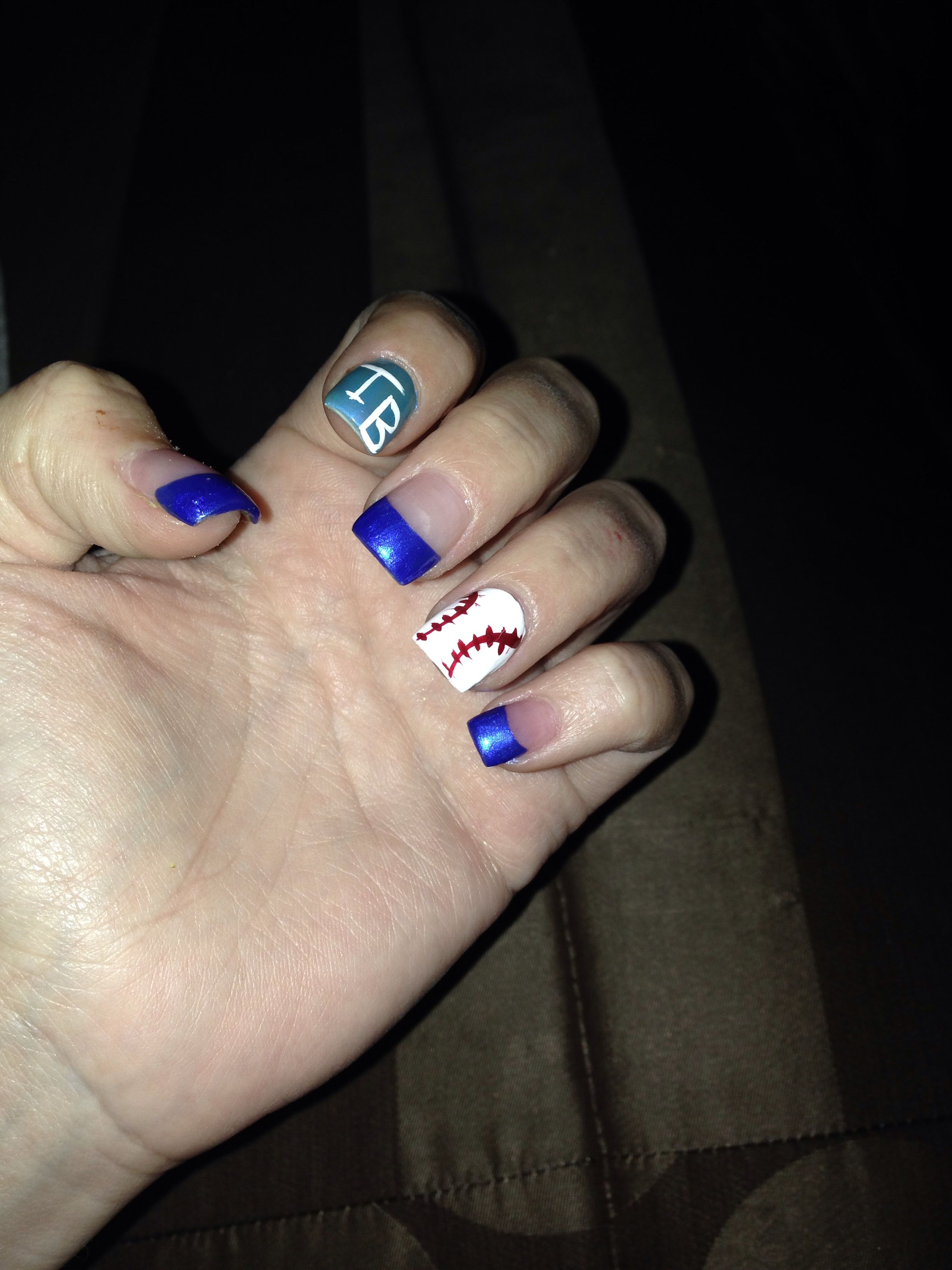 Nails Tampa Bay Rays Nail Art