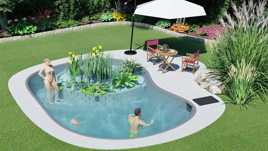 Gartenlagune Kleiner Schwimmteich 4 In 2020 Schwimmteich Naturschwimmbecken Schwimmen