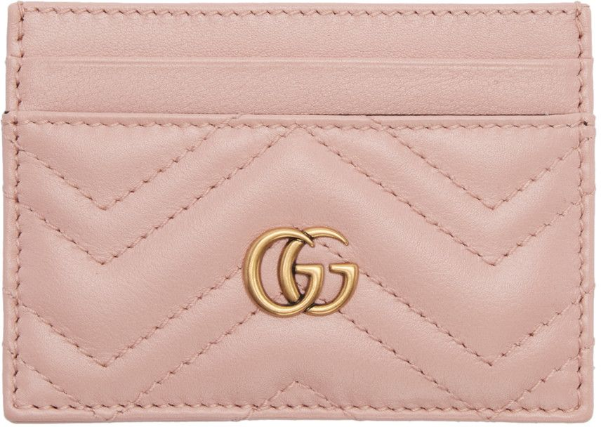 6a46f6db009cf3 Gucci - Pink GG Marmont Card Holder | Dream luxury in 2019 | Gucci ...