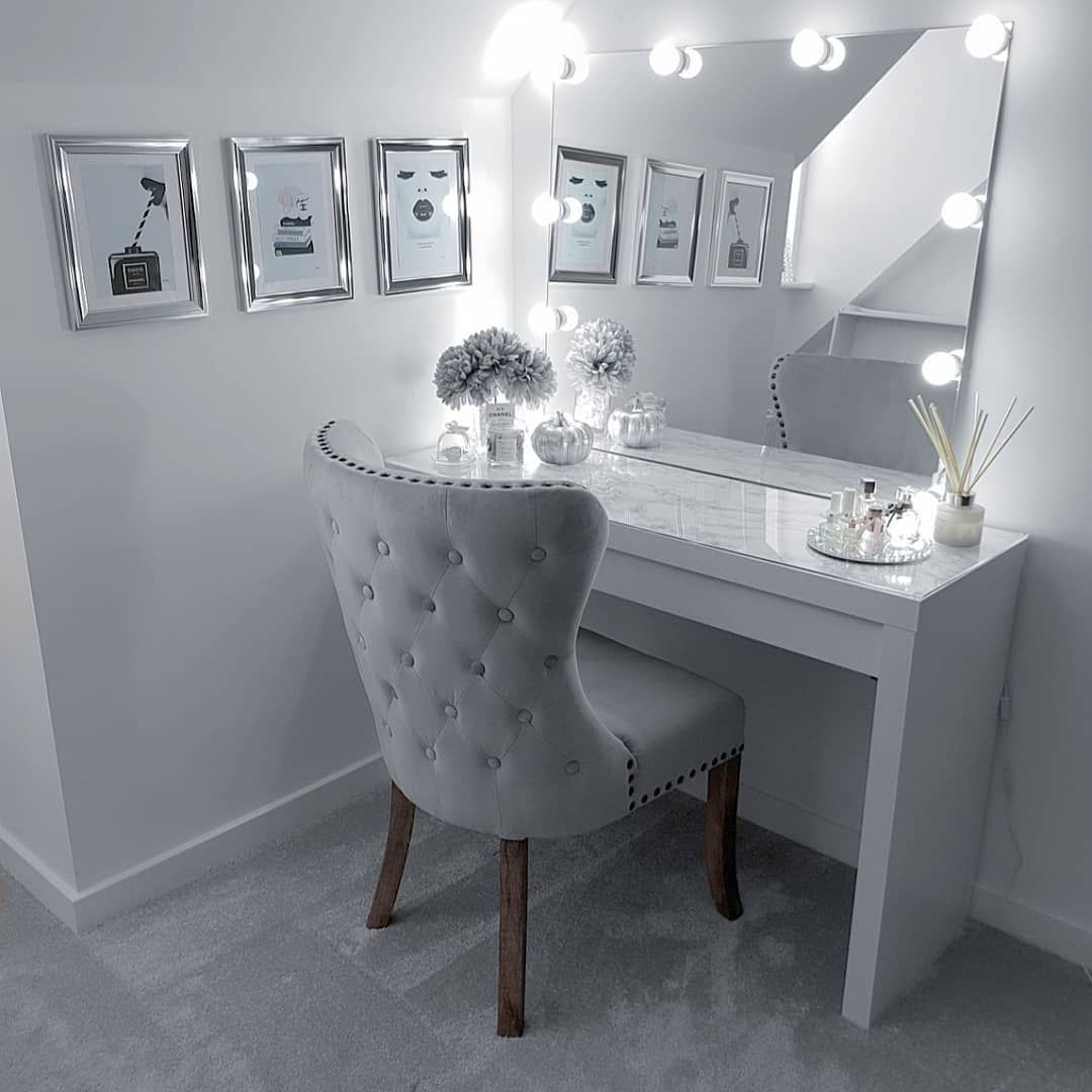 Dressingroom Dressingtable Hollywood Mua Makeup Bright Homesense Chair Chanel Mirror Pret Stylish Bedroom Master Bedrooms Decor Room Decor