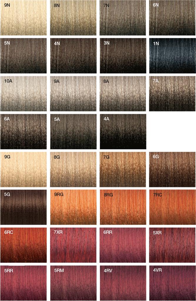 Vero K-Pak Color System swatches (JOICO)   Hair Color Formulas ...