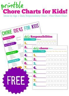 Free Printable C Charts For Kids Responsibility A Huge List Of Ideas By Age Even 2 3 Year Olds Can Start Learning To