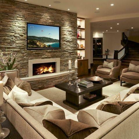 Basement Design | Organización de los muebles, Me quiero y Salón