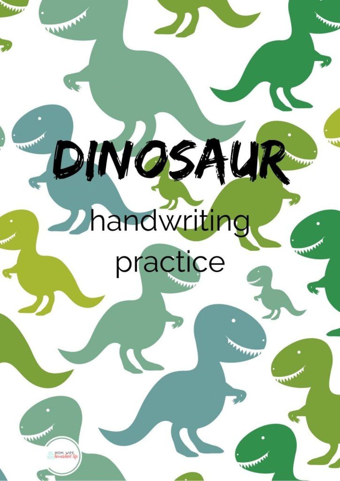 Free Dinosaur Handwriting Worksheets Preschool 3 In