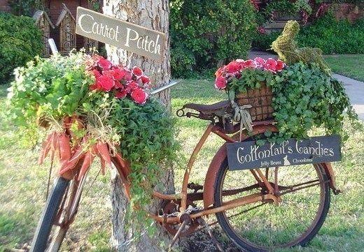 Les vélos fleuris au jardin ! … | VELOS | Pinterest | Garden art ...