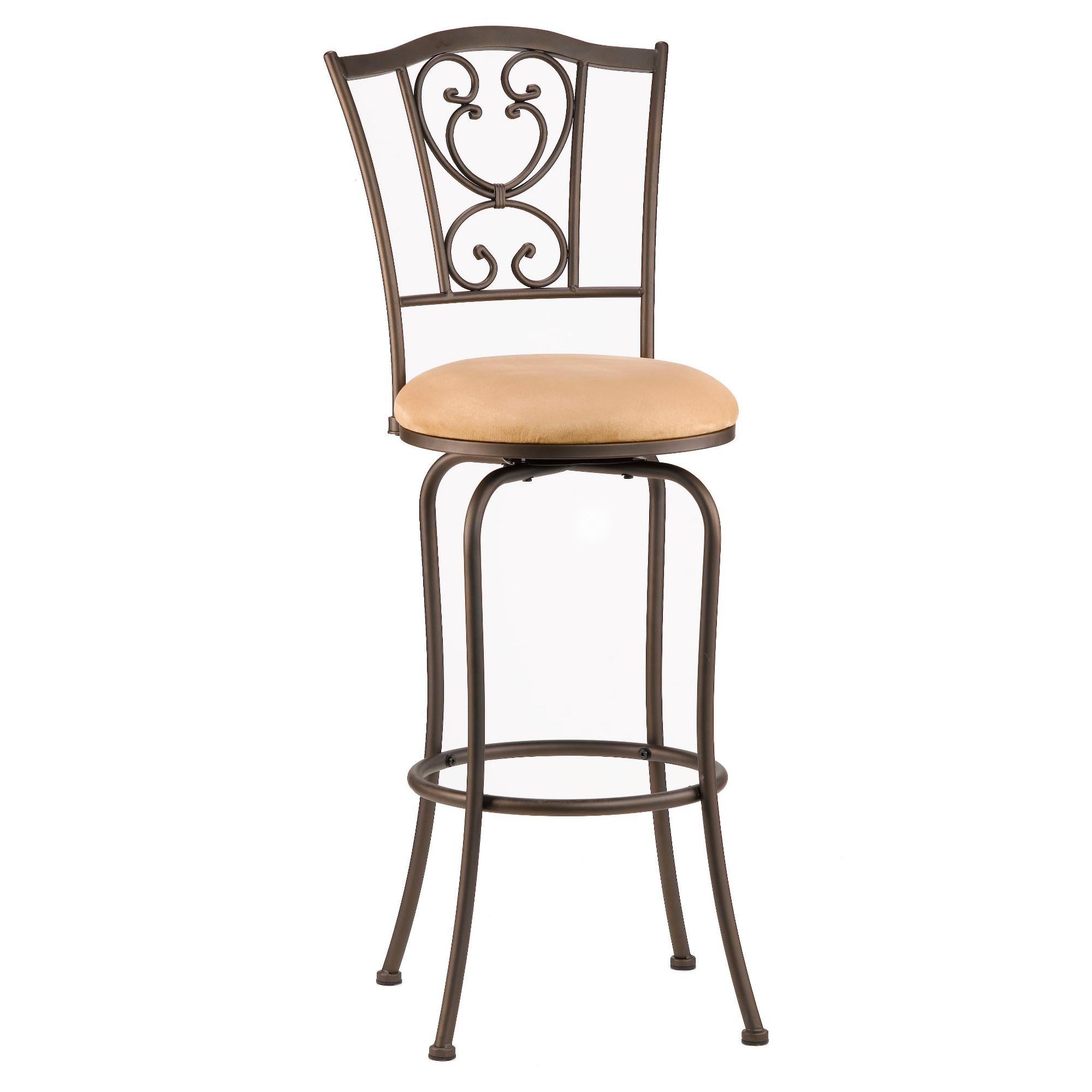 Concord Swivel 24 Counter Stool Metal/Brown Hillsdale