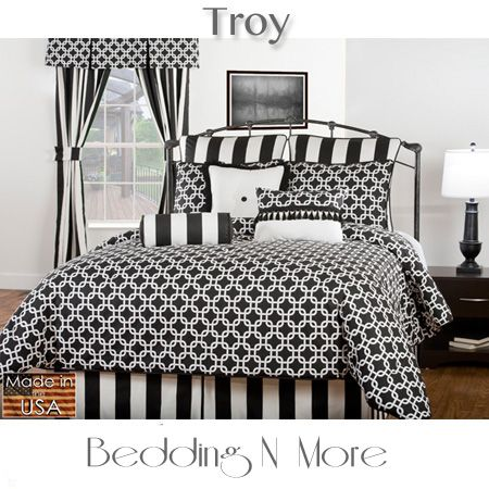 Troy Black White Bedding N A Modern Black White And Grey Color Pattern Combines A Contemporary Geometr Comforter Sets White Comforter Grey And White Bedding