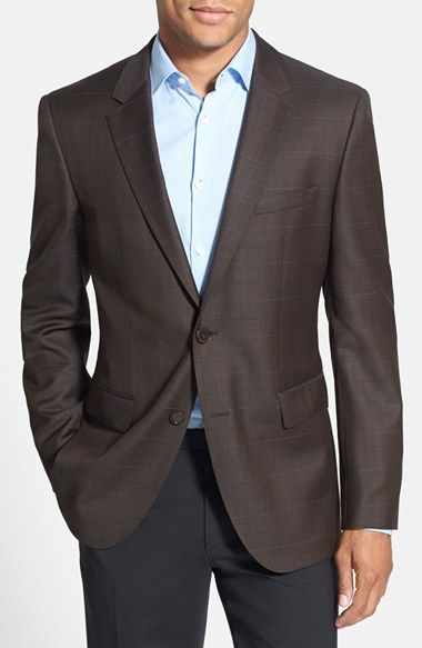 BOSS+HUGO+BOSS+'James'+Trim+Fit+Plaid+Sport+Coat+available+at+#Nordstrom