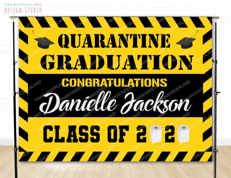 custom picture graduation custom graduates banner just did it backdrop quarantine graduation graduation backdrop sport graduation 2021